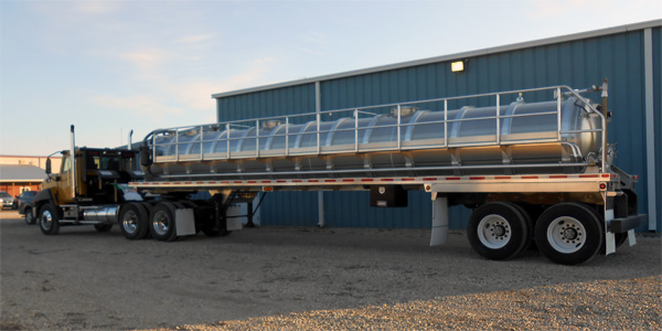 6300 Gal Aluminum Vacuum Trailers Ready to Roll